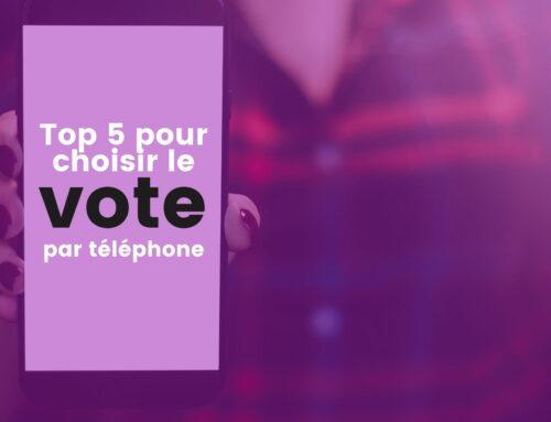 Top 5 des raisons de choisir le vote par téléphone plutôt que le boitier de vote
