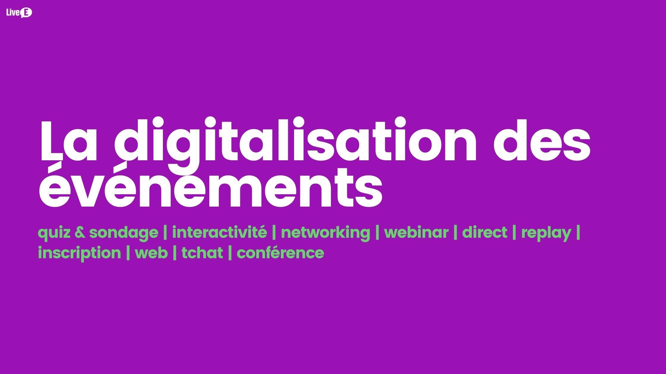 digitalisation evenement