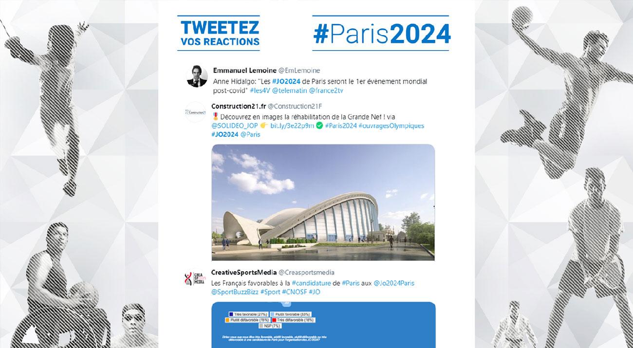 Tweet wall #Paris2024