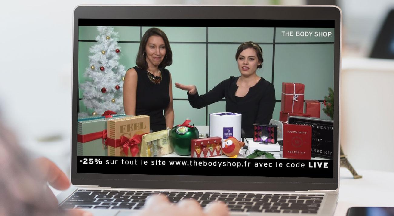 Emission live The Body Shop Noël